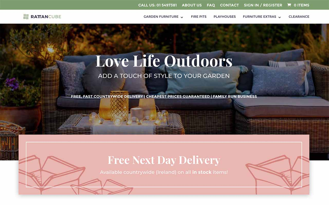 rattan cube digital marketing to increase online ecommerce sales