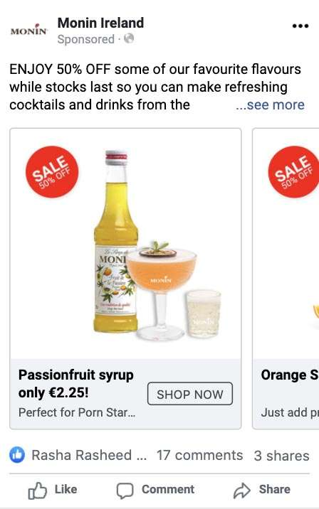 facebook ads for e-commerce online sales dublin ireland digital agency