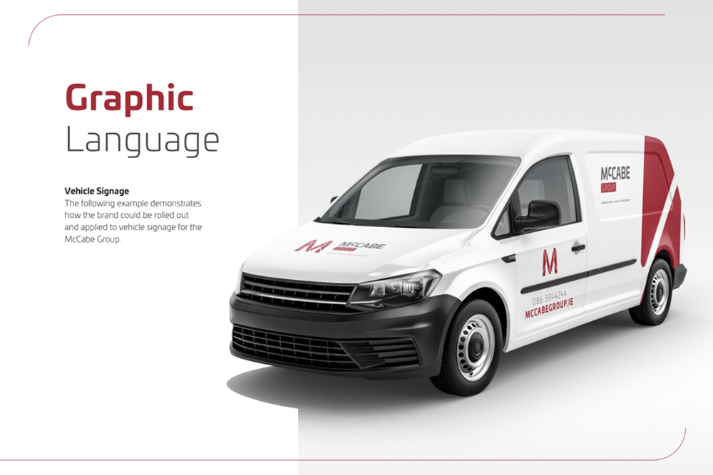 logo design for vehicles and branding guidelines ireland agency Escalate Digital Marketing 1
